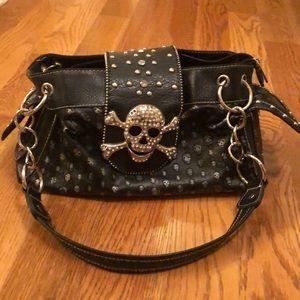 Katydid skull purse